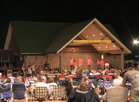 Picture of old fiddlers convention crowd