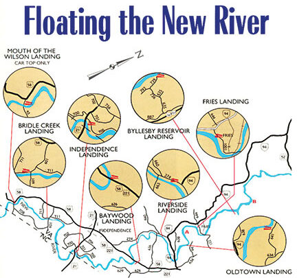 Grayson County Boat landing map