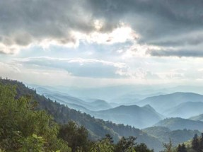 Picture of the blue ridge parkway