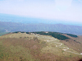 Aerial view of Whitetop Mountain Road