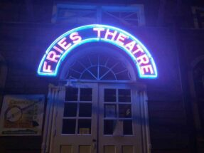 Picture of fries theater sign